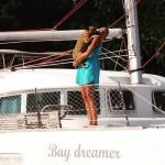 BFF verathesailor dogonboard catamaran bff sailingbaydreamer lagoon sailingaroundtheworld