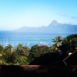 Nice view over MarinaTaina and Moorea in the distance