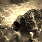 Under water Tikis outside Moorea snorkeling tiki adventure sailingaroundtheworld sailingbaydreamerhellip