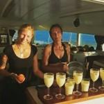 Sunset Pina Colada in Bora Bora sunset drink pinacolada boraborahellip