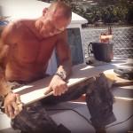 Maintenance week! maintenance lagoon380 catamaran sailingaroundtheworld livingonaboat lifeatsea marinataina sailingbaydreamer