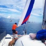 Almost there Maintenance week continues marinataina newsails northsails sails sailinghellip
