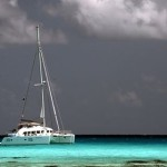 Anchored inside the lagoon of Rangiroa sailing sailingbaydreamer sailingaroundtheworld frenchpolynesiahellip